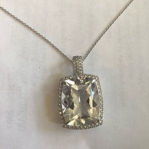 Jewelry - Giant rock crystal necklace